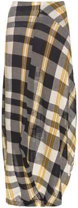 Stella McCartney Checked cotton-knit skirt