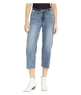 KUT from the Kloth Charlotte Crop Culottes in Recover w/ Medium Base Wash