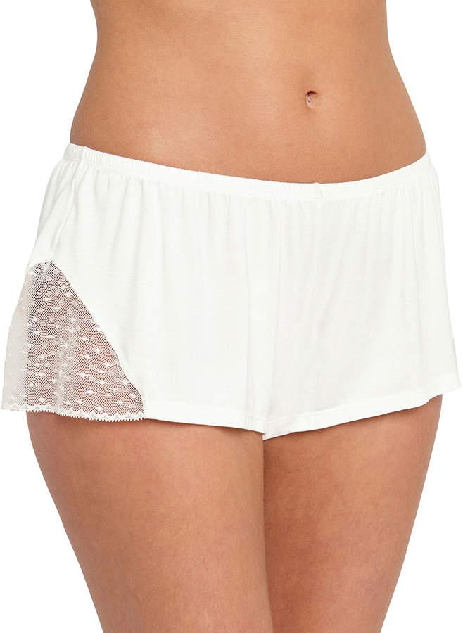Eberjey Greta Lace-Inset Lounge Shorts
