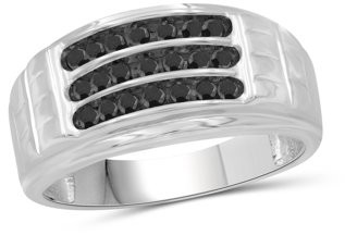 Black Diamond Jewelrsclub JewelersClub 3/4 Carat T.W. Sterling Silver Men's Ring