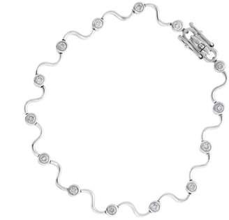 Delicate And Feminine 14k White Gold 0.50 Ct. Diamond Bracelet