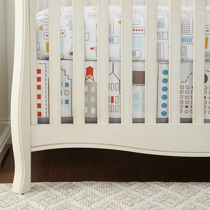 DwellStudio Skyline Percale Crib Skirt