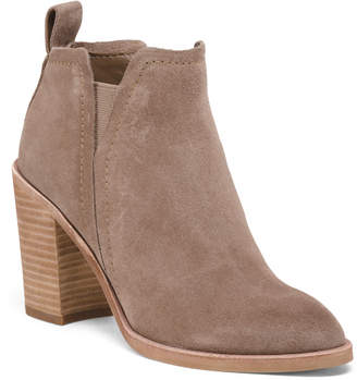 Dolce Vita Stacked Heel Suede Ankle Booties