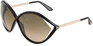 Tom Ford Liora Oversized Open-Inset Butterfly Sunglasses