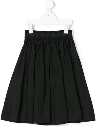 DKNY logo waistband skirt