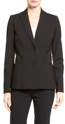 Women's Lafayette 148 New York 'Rhonda' Stretch Wool Jacket $498 thestylecure.com