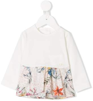 Roberto Cavalli Junior printed hem top