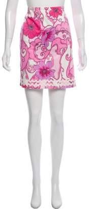 Tibi Floral Print Mini Skirt