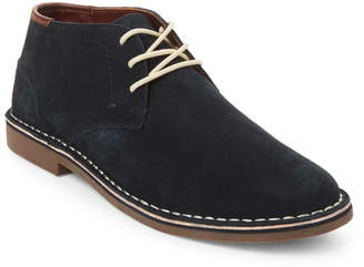 Kenneth Cole Reaction Navy Desert Sun Suede Chukka Boots