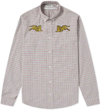 Kenzo Double Jumping Tiger Check Shirt