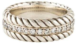 David Yurman Pavé Diamond Cable Band Ring