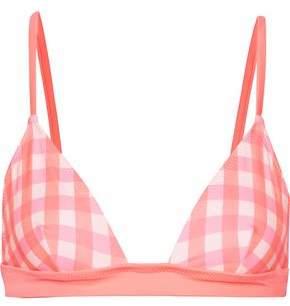 The Morgan Gingham Triangle Bikini Top