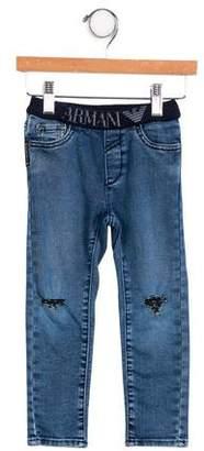 Giorgio Armani Baby Boys' Distressed Jeans