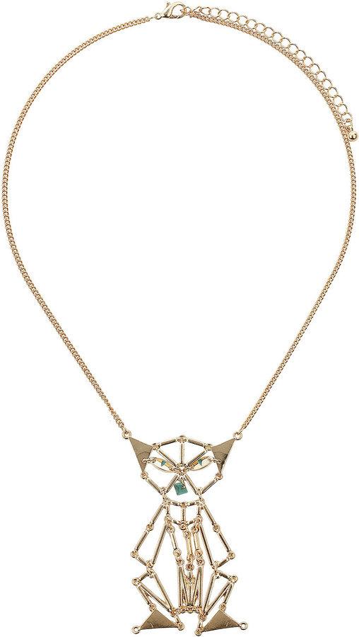 Unique Short Egyptian Cat Necklace