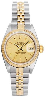 Rolex Pre-Owned Stainless Steel and 18K Yellow Gold Two Tone Datejust Watch with Fluted Bezel and Champagne Dial, 26mm
