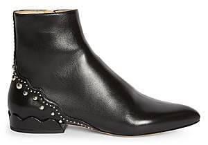 Chloé Women's Laurena Studded Leather Ankle Boots