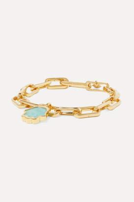Monica Vinader Atlantis Gold Vermeil Amazonite Bracelet