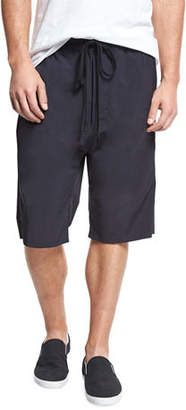 Vince Athletic Drop-Rise Stretch-Nylon Shorts