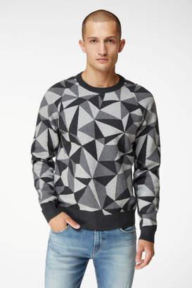 Quaezar Sweater In Geo Coal