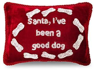 Sudha Pennathur Santa I've Been a Good Dog Pillow