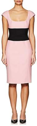 Narciso Rodriguez WOMEN'S WOOL GABARDINE BELTED DRESS
