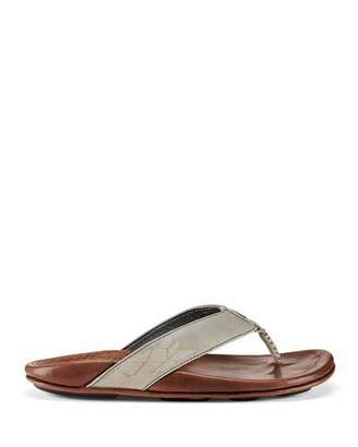 OluKai Men's Kulia Leather Thong Sandals