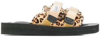 Suicoke leopard sandals