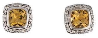 David Yurman Citrine & Diamond Albion Earrings