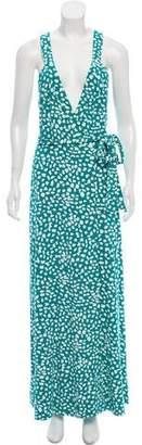 Diane von Furstenberg Samson Printed Maxi Wrap Dress