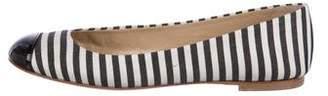 Giuseppe Zanotti Woven Cap-Toe Flats