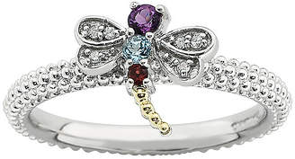 JCPenney FINE JEWELRY Personally Stackable Gemstone & Diamond-Accent Beaded Dragonfly Ring