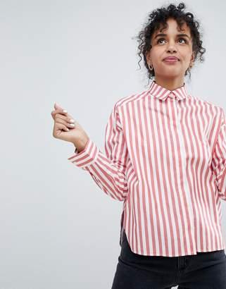 Monki Red Striped Shirt