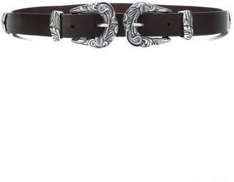 Orciani Bull double buckle belt