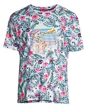 Robert Graham Men's Bad Skull Club Graphic T-Shirt