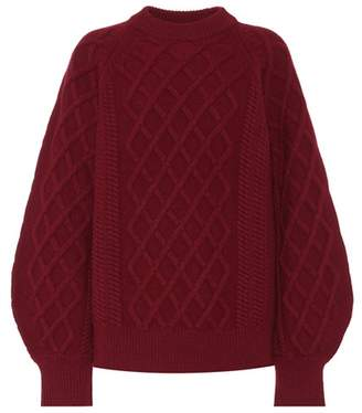 Victoria Beckham Cable-knit wool sweater