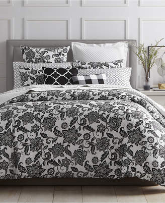 Charter Club LAST ACT! Black Floral 2-Pc. Twin Comforter Set, Created for Macy's