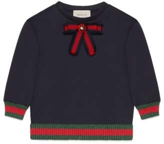 Gucci Bow Neck Jersey Sweatshirt