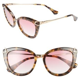 Women's Sonix Melrose 51Mm Gradient Cat Eye Sunglasses - Rouge/ Brown Tortoise $98 thestylecure.com