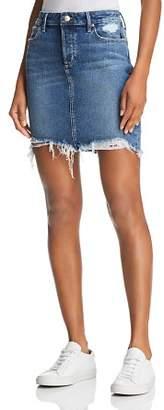 Joe's Jeans Frayed Denim Skirt in Skyler