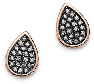 Bloomingdale's Brown Diamond Teardrop Stud Earrings in 14K Rose Gold, 0.16 ct. t.w. - 100% Exclusive