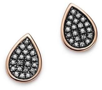 Bloomingdale's Brown Diamond Teardrop Stud Earrings in 14K Rose Gold, 0.16 ct. t.w. - 100% Exclusive