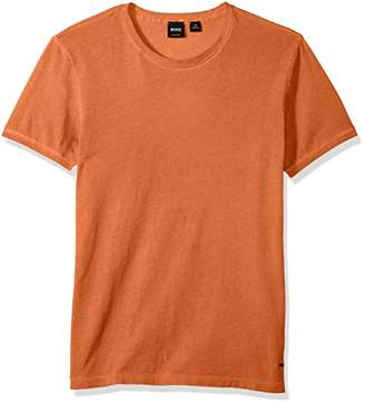 HUGO BOSS BOSS Men's Garment Dyed Cotton Slim Flit Crew Neck Tee Shirt