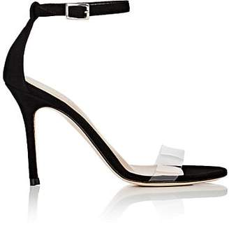 Barneys New York Women's Suede & PVC Ankle-Strap Sandals - Black