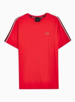 Criminal Damage Mens Red Taping T-Shirt