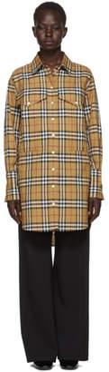 Burberry Beige Check Oversized Shirt