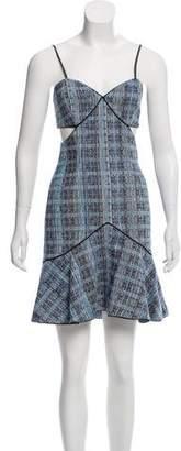 Jonathan Simkhai Sleeveless Cutout Accent Mini Dress