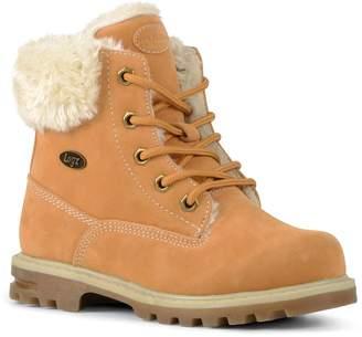 Lugz Empire Hi Faux-Fur Preschool Kids' Water-Resistant Boots $55 thestylecure.com