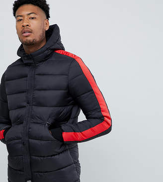 Asos Sixth June puffer jacket with red taping exclusive to