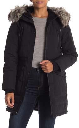 BCBGeneration Faux Fur Trim Parka Jacket