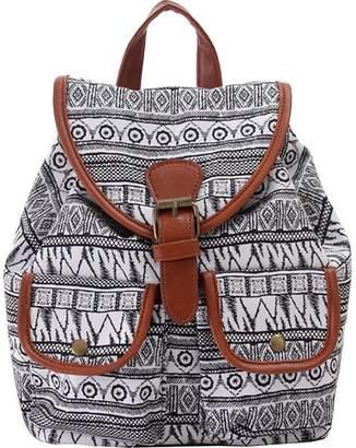 KAXIDY Cute Pattern Canvas Backpack Young Girls School Backpack Women Rucksack